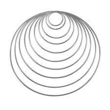 Metalen ringen gewoon of wit gecoat