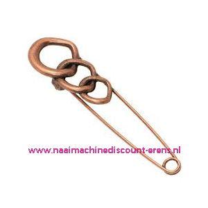 Kiltspeld handgemaakt rondjes brons / 010202