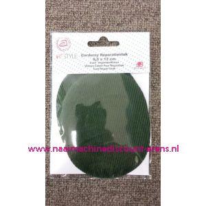 Donker groen Rib Fluweel Elleboogstuk - 10331