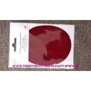 Bordeaux rood Rib Fluweel Elleboogstuk - 10337