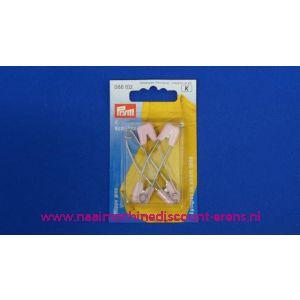001043 / Baby Veiligheidsspelden Roze 55 Mm.Prym art.nr.  086102