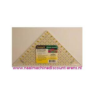 OMNIGRID liniaal half Triangle max 6 inch art. nr. 611641