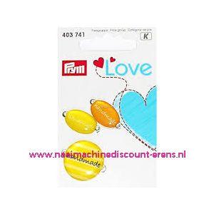 010457 / Prym Love Handmade pins geel/oranje prym art. nr. 403741