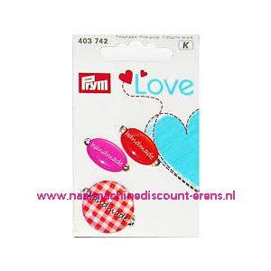 Prym Love Handmade pins oranje/rose prym art. nr. 403742 - 10458