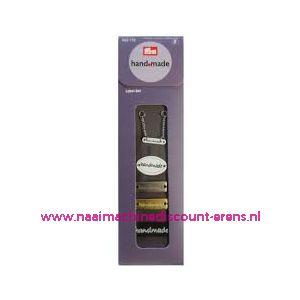 010467 / Handmade label set metaaliek prym art. nr. 403775