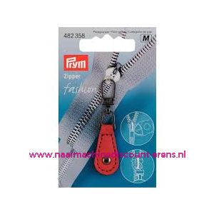 010475 / Fashion Zipper leder imitatie rood prym art. nr. 482358