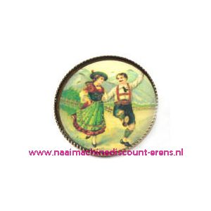 "010491 / Knöpfe . Postkartenmotive Art-Nr. 2585-48/40"" 6 Stuks"