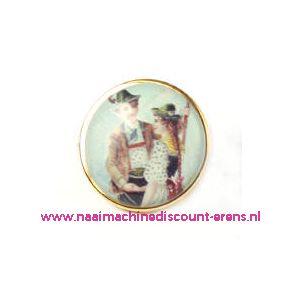 "Knöpfe . Postkartenmotive . Art-Nr. 2852-49/32"" 6 Stuks - 10496"