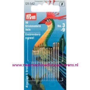 001071 / Crewelnaalden (Fijn)Staal No.3-9 Zi/Go-Kl prym art.nr.125542