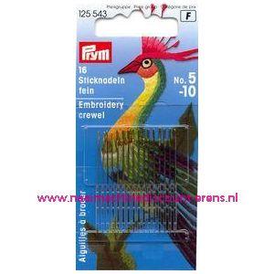 001072 / Crewelnaalden (Fijn) Staal No.5-10 Zi/Go-Kl art. nr. 125543