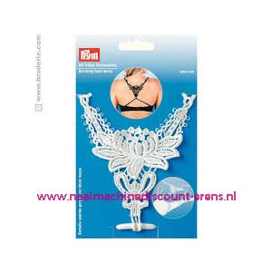 010758 / BH-bretel met rugdecor wit Prym art. nr. 991943