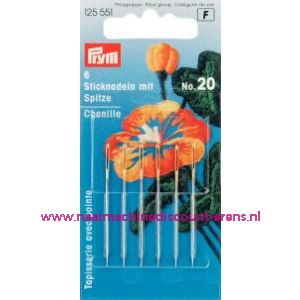 001077 / Borduurnld Met Punt St. No.20 Zi/Go-Kl 1,00X43 Mm prym125551