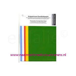 Knippatronen Doordrukpapier 5 Kleuren