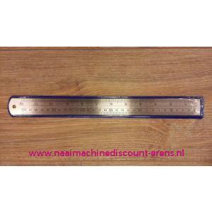Metalen liniaal in 30 CM en 12 INCH