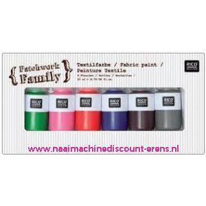 Textielverf 6 kleuren a 22 ML art. nr. 500050.130 - 10789