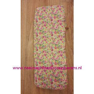 Breitas creme met rose/geel/blauwe bloemen / 010849