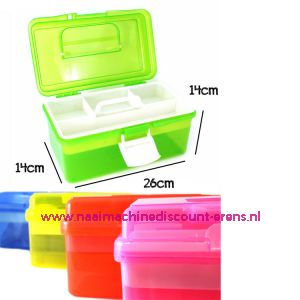 010862 / Naaibox compact colour Blauw