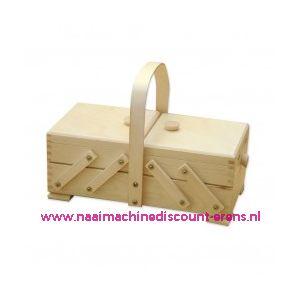 Houten naaibox blank art.31/132  Artikel 161050 2 etages - 10880