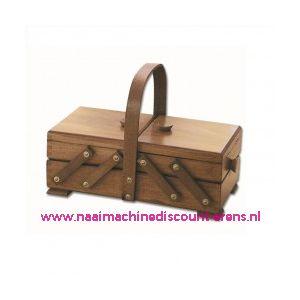 Houten naaibox rustiek art.31/132  Artikel 016105 2 etages - 10881