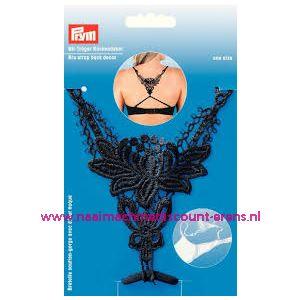 BH-bretel met rugdecor zwart Prym art. nr. 991944 - 10943