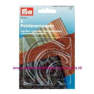 001097 / Gebogen Stoffeerdersnaald. No.2-4-5 Zilverkl.prym nr. 131350