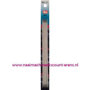 Kousenbreinaalden Staal Zilverkl. 20Cm 3,00 Prym nr. 171239 / 001103