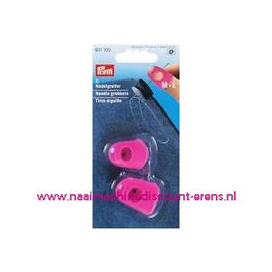 Naaldgrijpers silicoon rose M + L - 11474
