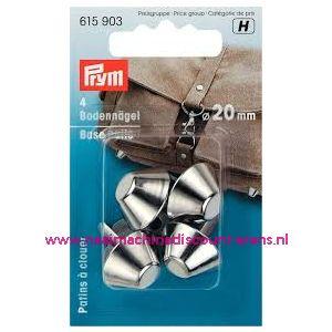 Bodemnagels v.tassen   Ø 20 mm zilverkleurig prym 615903 - 11487