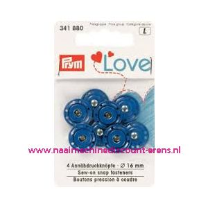011490 /  Prym Love Aannaaidrukknopen BLAUW art. nr. 341880