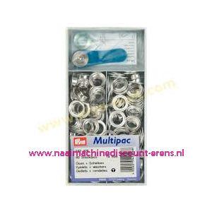 Ringen met Schijven 8 mm 200 stuks Zilverkleurig Prym art.nr. 542422