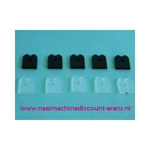 011619 / Rigilene END CAPS 12 Cm 10 stuks zwart