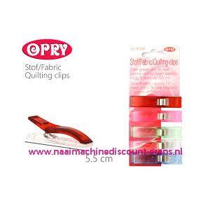 011789 / OPRY stof clips extra groot 5,5 Cm 5 stuks