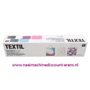 "Textilverfset ""Fashion"" Rico design 40 ML 6 Stuks - 11801"