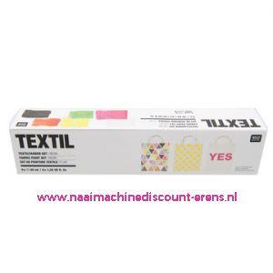 "Textilverfset ""NEON"" Rico design 40 ML 6 Stuks - 11802"