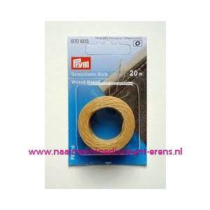 011846 / Gewaxt draad beige 20 meter prym art. nr. 970603