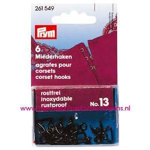 Korsethaken En Ogen Ms 13 Zwart Groot Prym art. nr. 261549 - 1202