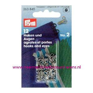 001205 / Haken En Ogen Ms 2 Ziverkleurig prym art. nr. 263845
