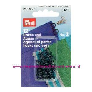 001208 / Haken En Ogen Ms 2 Zwart prym art. nr. 263850