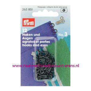 Haken En Ogen Ms 3 Zwart prym art. nr. 263851 - 1209