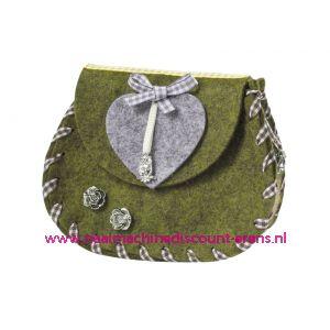 """Vilten Heuptasje """"Kufstein"""" art.3435643 groen mêleerd - 12169"""
