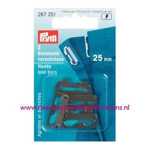 001217 / Rokhaken St Zwart 25 Mm Prym art. nr. 267251