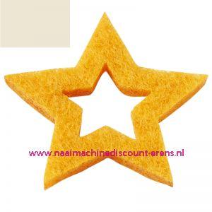 Vilt sterren open 3437520 schelpwit 3 Cm 12 stuks - 12192
