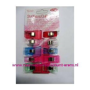 012219 / OPRY stof clips ass. 5 st. 2,7 Cm + 5 st. 3.3 Cm art. 96249