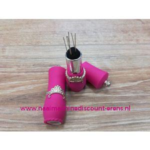 012328 / Draaibare naaldenverdeler op kussen kleur rose