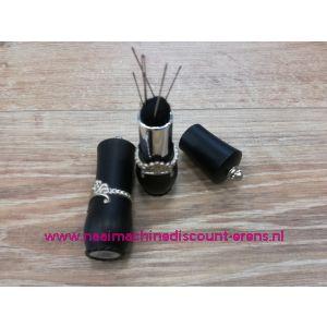 Draaibare naaldenverdeler op kussen kleur zwart - 12329