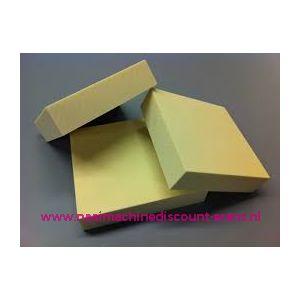 Schuim rubberplaat Polyester dik 8 Cm 50 x 50 Cm - 12359