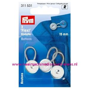 001239 / Flexi Knopen Met Lus 15 Mm prym art. nr. 311531