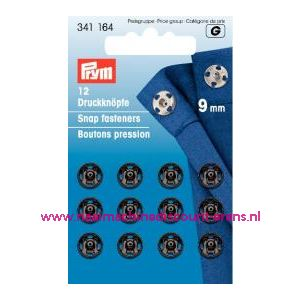 001251 / Drukkers Ms Zwart 9 Mm prym art. nr. 341164