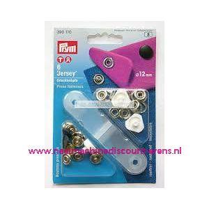 001279 / Naaivrijdrukknopen Jersey Ms Gladde Kap Zwart 12 Mm 390170