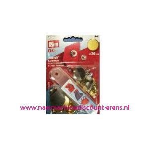 001314 / Naaivrijdrukknopen Anorak Ms Oudgoud Plat/Mat 20 Mm 390375